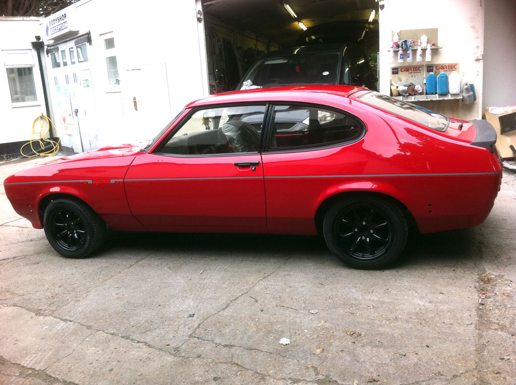 Ford Capri after respray finished