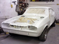 Body shell ready for repray